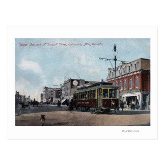 Jasper & McDougall Streets Postcard