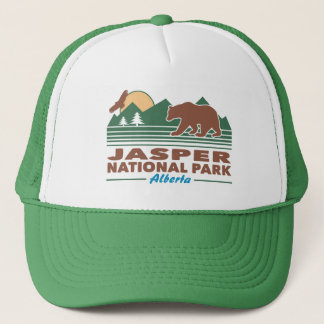 Jasper National Park Bear Trucker Hat