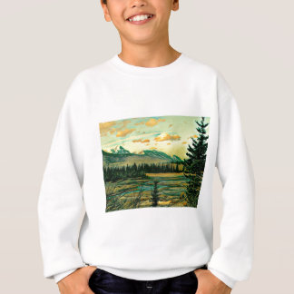 Jasper National Park River with mountain view Sweatshirt