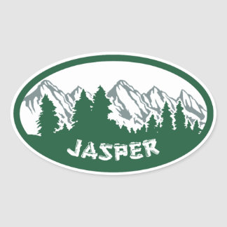 Jasper Natl Park Panorama Oval Sticker