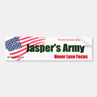 Jasper's Army 1 Car Bumper Sticker