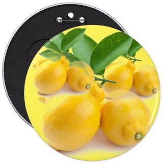 jaune citron macaron rond 15,2 cm