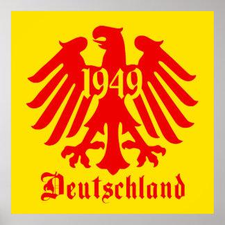 Jaune d'affiche d'emblème d'Eagle d'Allemand du De