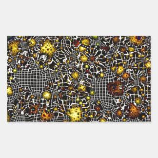 jaune de cosmos d'imaginaire de la science fiction sticker rectangulaire