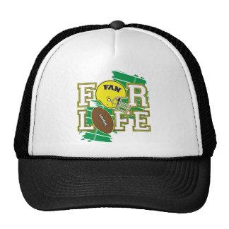 Jaune de passioné du football casquette de camionneur