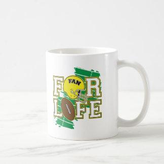 Jaune de passioné du football tasses à café