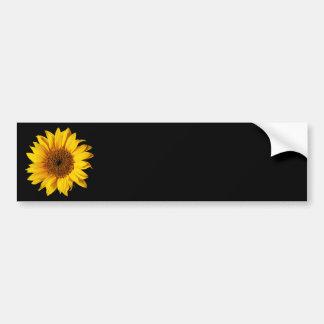 Jaune de tournesol sur le noir - fleurs customisée autocollants pour voiture