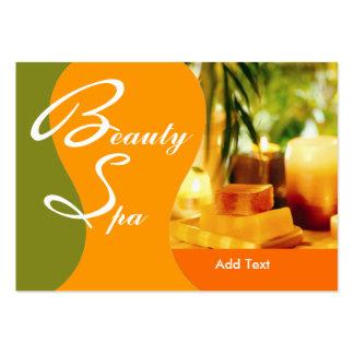 Jaune de vert de salon de spa de santé de beauté carte de visite grand format