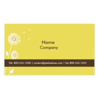Jaune de zeste de citron de pissenlits de PixDezin Cartes De Visite Personnelles