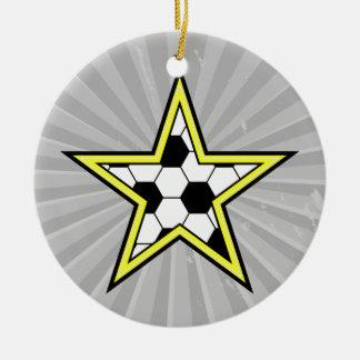jaune d'étoile du football décoration pour sapin de noël