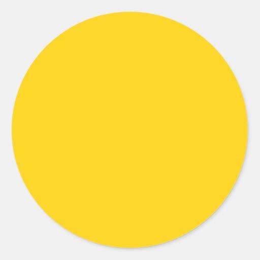 Jaune jaune canari la couleur parfaite pour tout sticker rond zazzle - Couleur complementaire du jaune ...