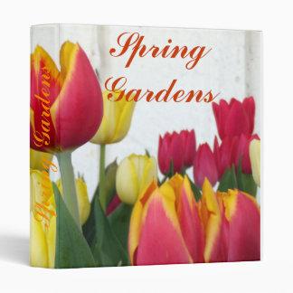 Jaune-orange rouge de tulipes de fenêtre classeurs 3 anneaux
