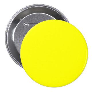 Jaune pur - blanc lumineux de modèle de citron au  badges avec agrafe