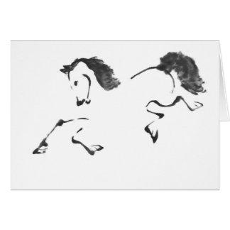 Jaunt - Horse Sumi-e Painting Card