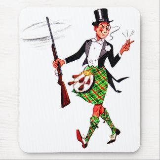 jaunty Scotsman with rifle Mouse Pad