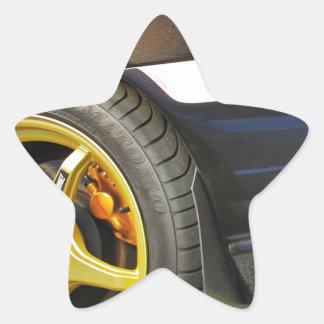 Java Black Pearl Star Sticker