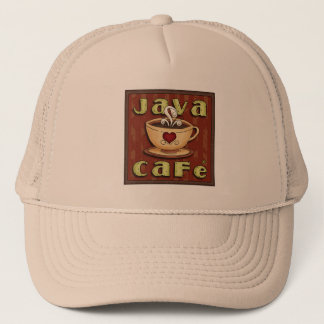 Java Cafe fun word art coffee hat