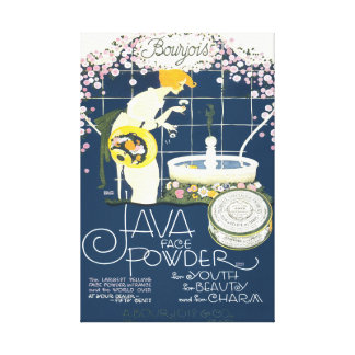 Java Face Powder Vintage Cosmetics Bathroom Ad Canvas Print