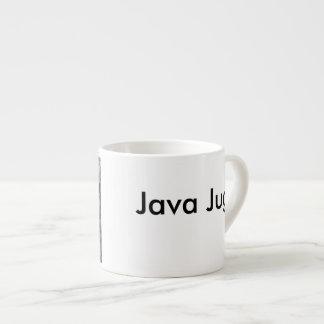 Java Jug Black and White Espresso Cup