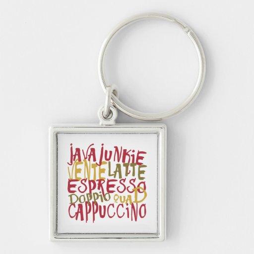 Java Junkie - Fun Coffee Lovers Gifts & Apparel Key Chain