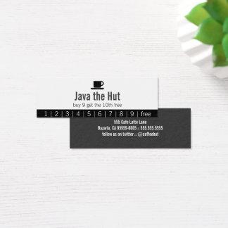Java Logo Drink Punch Card