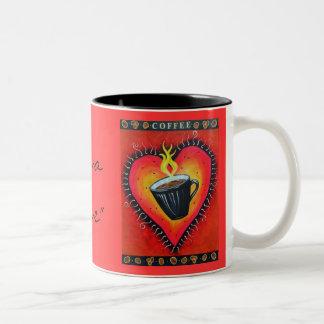 """Java Love"" Double Image Two-Tone Coffee Mug"