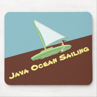 JAVA OCEAN SAILING MOUSE PAD by Slipperywindow