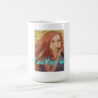 java rock girl classic white coffee mug