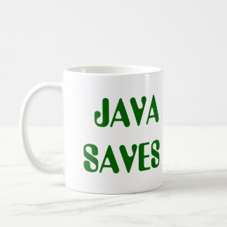 Java Saves Mug