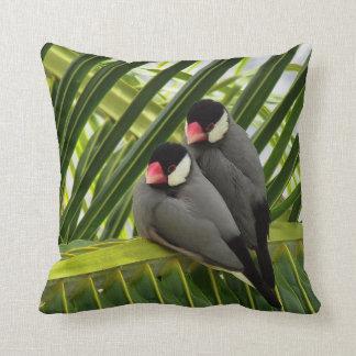 Java Sparrow Throw Pillow