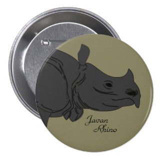 "Javan Rhino 3"" Button"