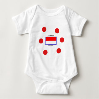 Javanese Language And Indonesian Flag Design Baby Bodysuit