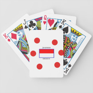 Javanese Language And Indonesian Flag Design Bicycle Playing Cards