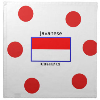 Javanese Language And Indonesian Flag Design Napkin