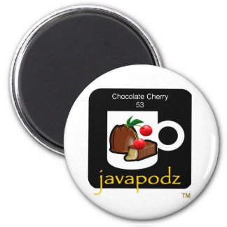 JavaPodz Collectible Chocolate Cherry Frig Mag 2 Inch Round Magnet