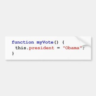Javascript for Obama Bumper Sticker