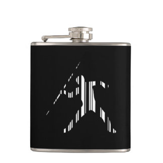 JAVELIN BAR CODE Sports Track and Field Pattern Flask