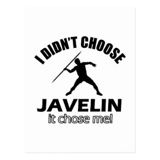 JAVELIN DESIGNS POSTCARD