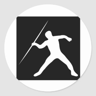 Javelin Throw Classic Round Sticker