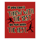 Javelin Throw With The Best- Poster