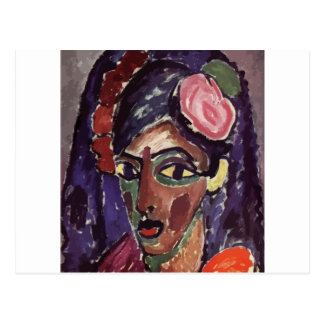 Jawlensky, Alexey von (1864-1941) - Head of a Girl Postcard