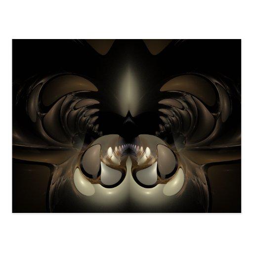 Jaws Fractal Artwork Postcard