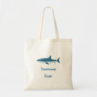 Jawsome Dude Shark Tote Bag
