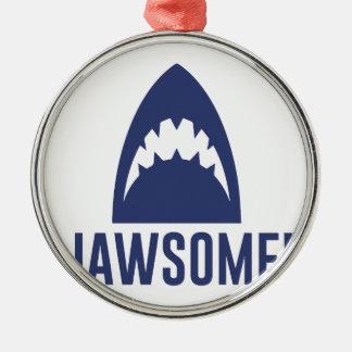 Jawsome Silver-Colored Round Ornament