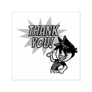 "Jaxon Thank You 1.5"" x 1.5"" Stamp"