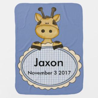 Jaxon's Personalized Giraffe Baby Blanket