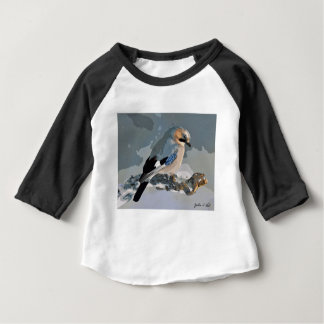 Jay Bird In Winter Baby T-Shirt