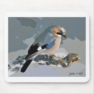 Jay Bird In Winter Mouse Pad