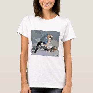 Jay Bird In Winter T-Shirt