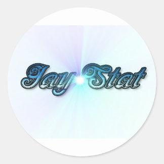 Jay Stat Blue Round Sticker
